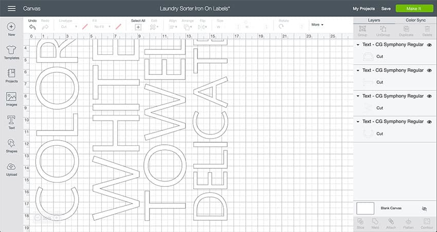 Laundry Sorter Design Space File