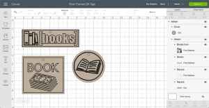 Book themed Gift Tags Design Space File Preview