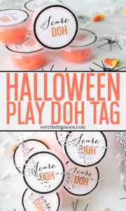 These Halloween Play Doh Printable Tags are perfect to put on the top of play doh containers or attach to a bag! Just download, print at home and attach to your Halloween PlayDoh! From overthebigmoon.com!