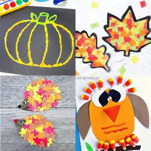 35 Easy and Cheap Fall Kids Crafts
