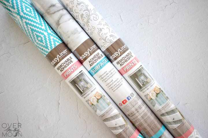 3 rolls of Duck® Brand EasyLiner® Removable Adhesive Shelf Liner