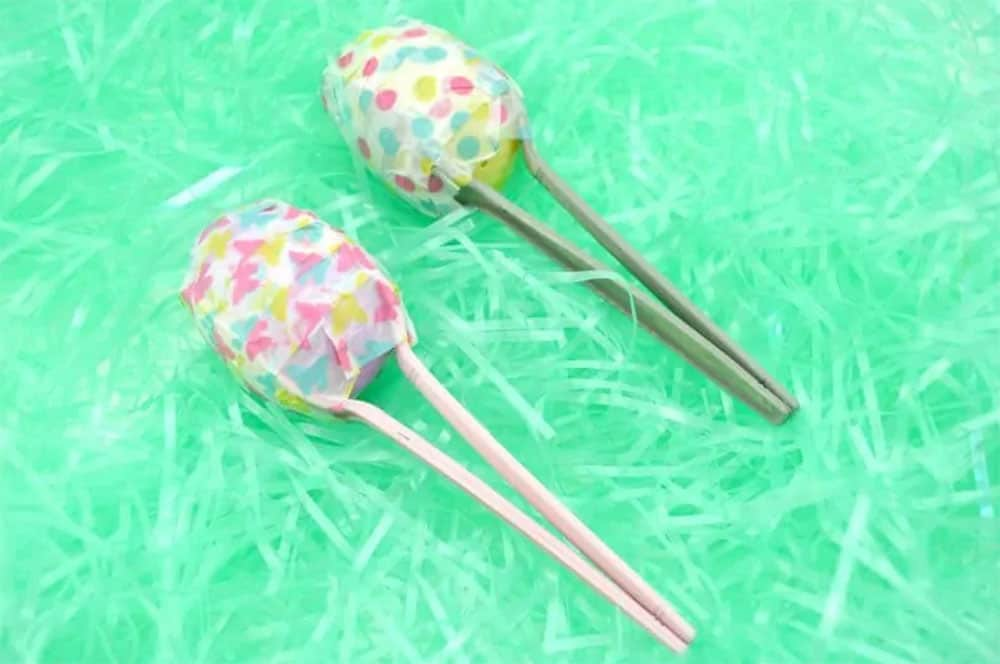 Maracas made from Easter Eggs and Spoons
