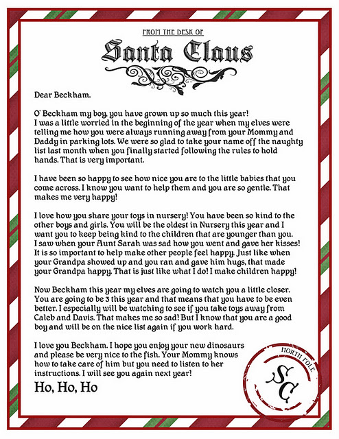 It's just a photo of Santa Letter Template Free Printable for santa background