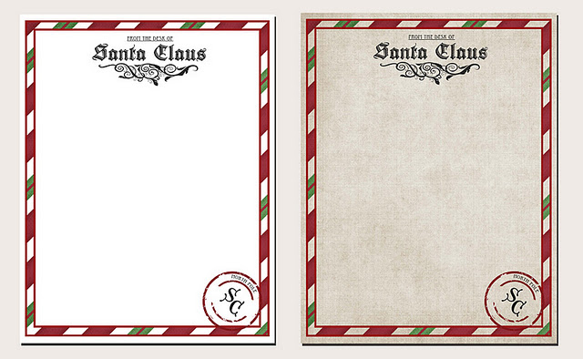 It is a picture of Free Printable Santa Stationary intended for official