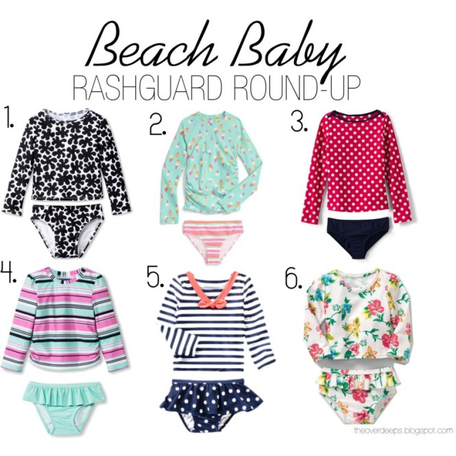 Beach Baby Toddler Rash-Guard Round Up