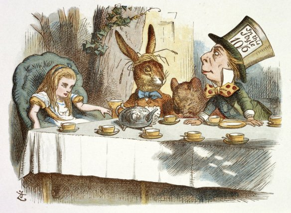 The Mad Hatter Tea Party, by John Tenniel - DR