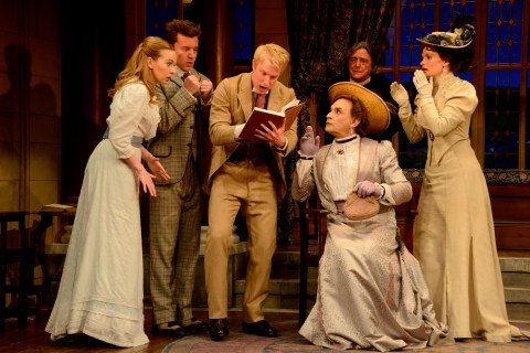 Vaudeville Theatre London Dress Rehearsals April 2015 The Importance of Being Earnest by Oscar Wilde Directed by Adrian Noble David Suchet as Lady Bracknell ©NOBBY CLARK