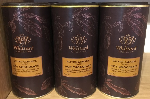 Coup de cœur for the Salted caramel flavoured hot chocolate by Whittard of Chelsea