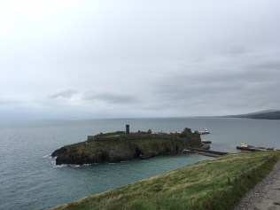 Peel castle from the hill, Isle of Man