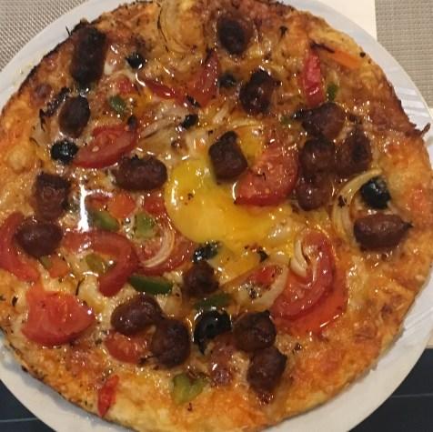La pizza sicilienne L'Oranaise à La Grosse Tour à Tours