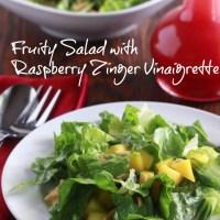 Fruity Salad with Raspberry Zinger Vinaigrette