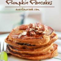 Healthy Oatmeal Pumpkin Pancakes