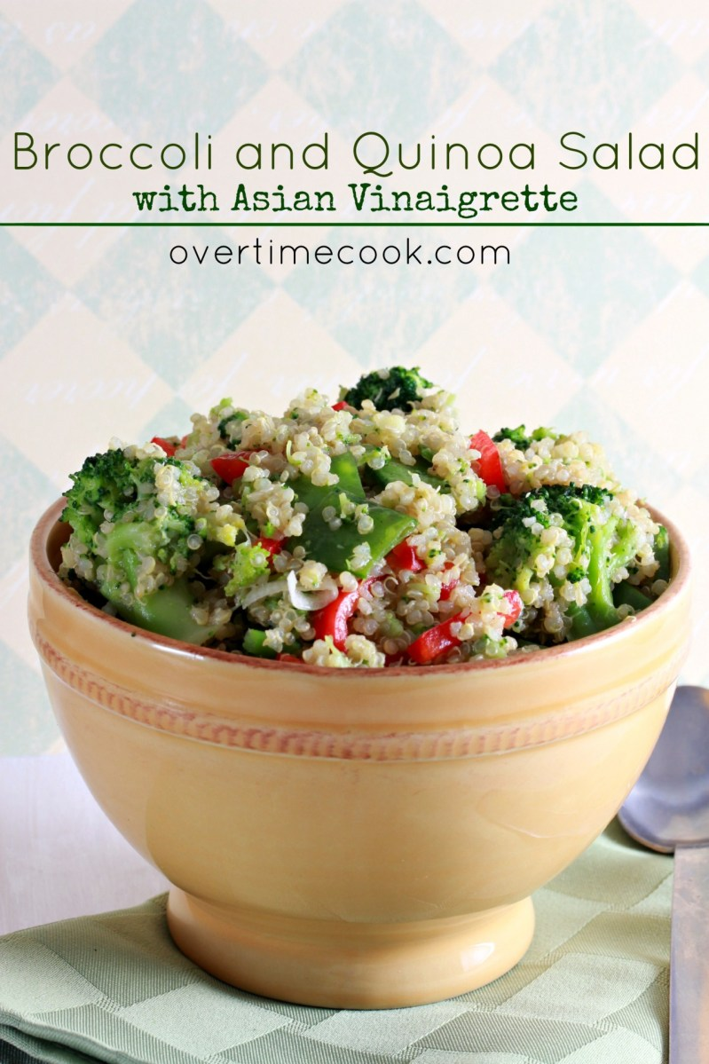 Broccoli and Quinoa Salad with Asian Vinaigrette