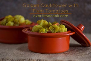 Golden Cauliflower and Plum Tomatoes and a Review and Giveaway of Starters and Sides Made Easy