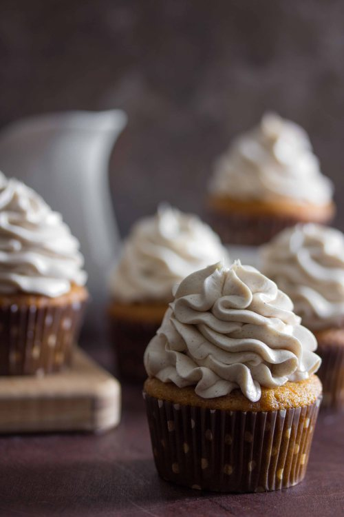 sweet potato cupcakes with marshmallow frosting