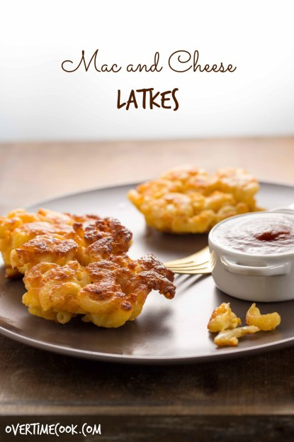 mac and cheese latkes on overtimecook