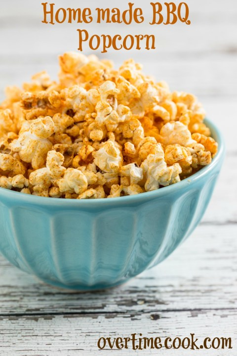 Homemade Barbecue Popcorn | OvertimeCook.com