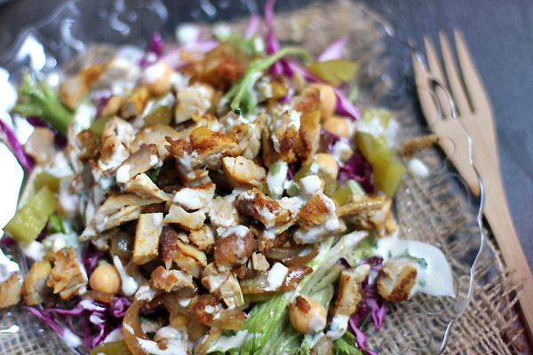 grilled chicken schwarma salad3