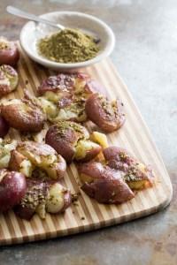 Crispy Smashed Za'atar Potatoes