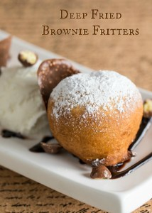 Deep Fried Brownie Fritters