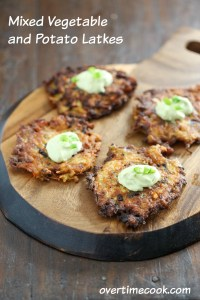 Mixed Vegetable and Potato Latkes