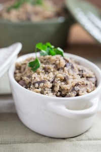 Mushroom and Garlic Quinoa