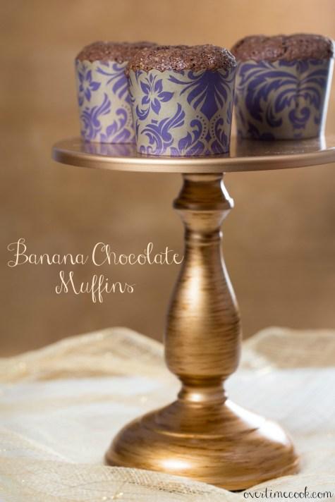 banana chocolate muffins on overtime cook