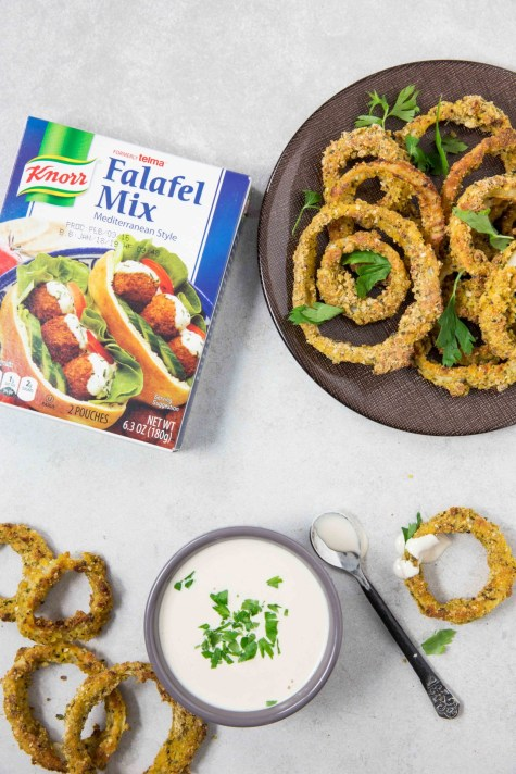 falafel crusted onion rings3