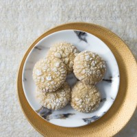 Honey Crinkle Cookies
