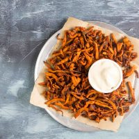 Barbecue Sweet Potato Shoestring Fries