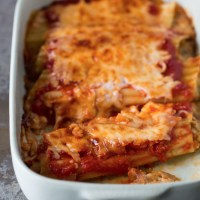 Caramelized Onion and Cheese Manicotti from More Real Life Kosher Cooking