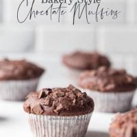Bakery Style Chocolate Muffins {No-Mixer}