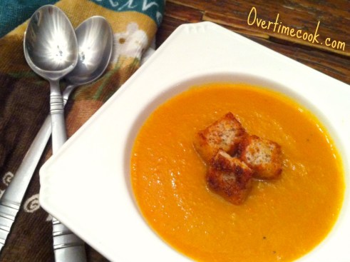 ... creamy, you probably imagine a rich and creamy soup, full of…well