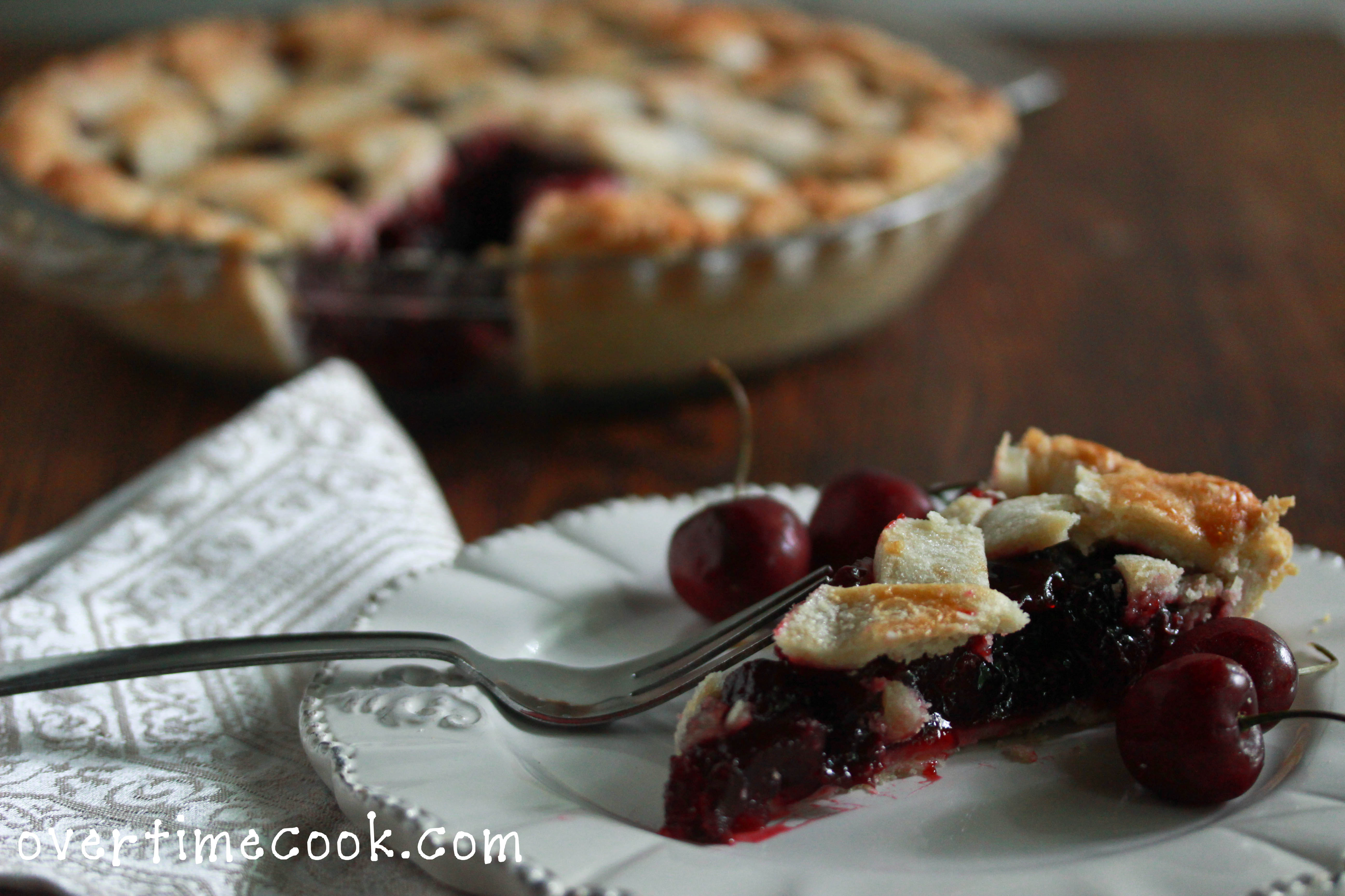 Homemade Cherry Pie and a Lattice Crust Tutorial - Overtime Cook