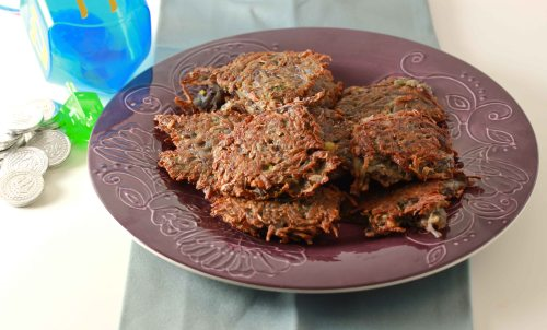 Purple Potato Latkes 1