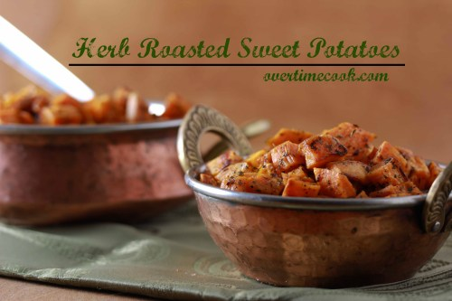 herb roasted sweet potatoes on overtime cook