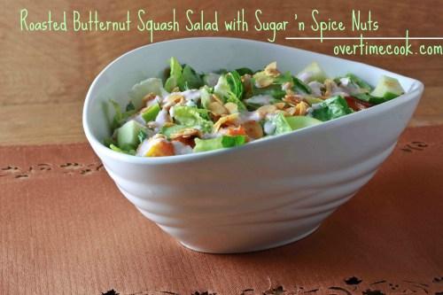 butternut squash salad onOvertimeCook