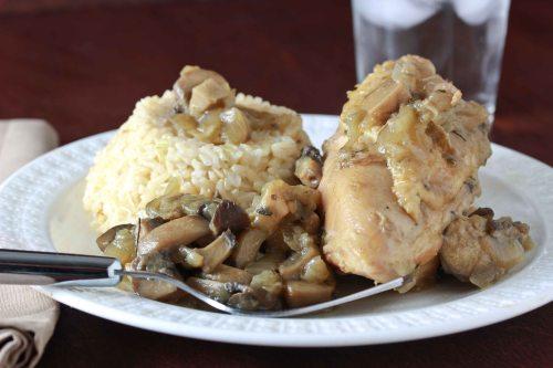 chicken with mushroom sauce 1