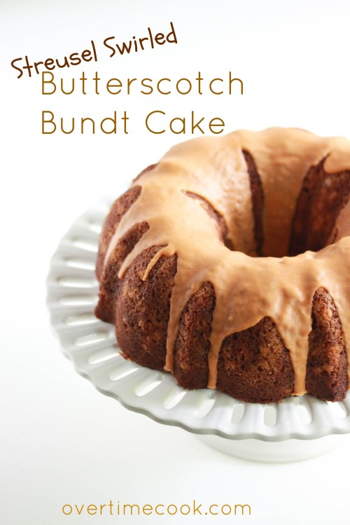 Buterscotch Bundt Cake on Overtime Cook
