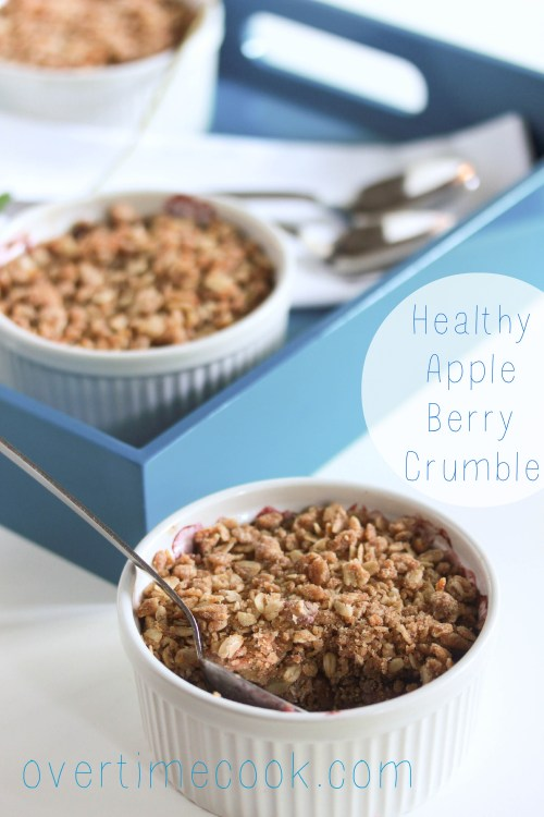 Healthy Apple Berry Crumble on OvertimeCook.Com