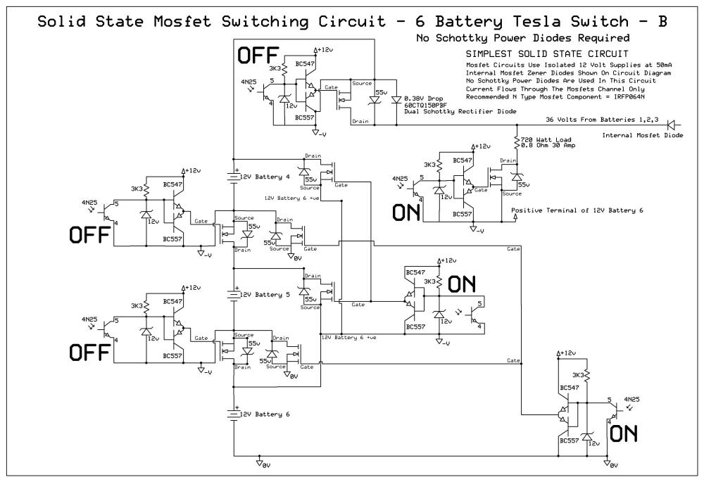 medium resolution of 6 battery tesla switch circuit mosfet solid state updated 06 06 completed 6 battery solid state tesla switch circuit diagram
