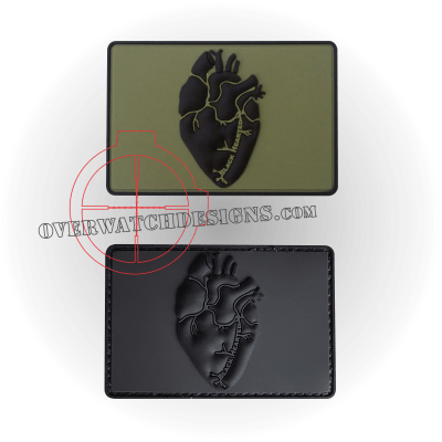 Black Hearted PVC Patch