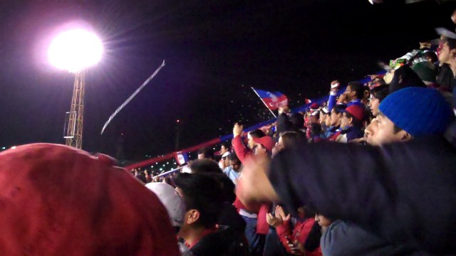 Cheering Xela-ju in Guatemala