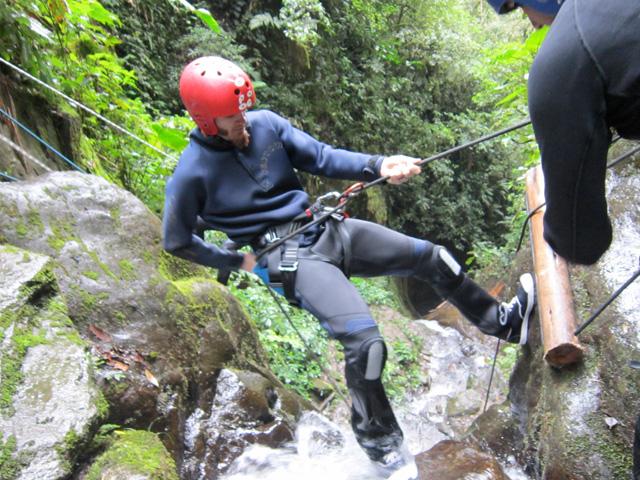 Canyoning in Banos, Ecuador