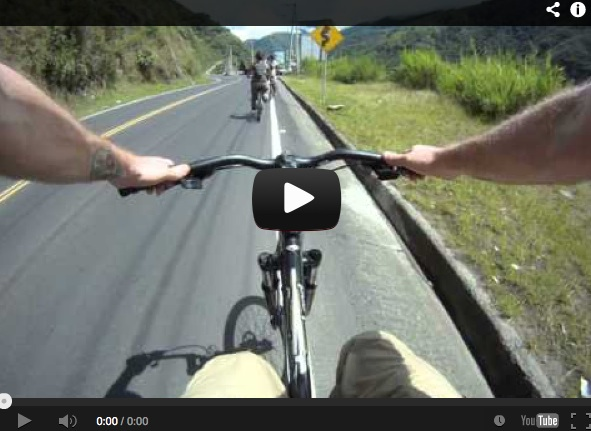 Biking in Ecuador