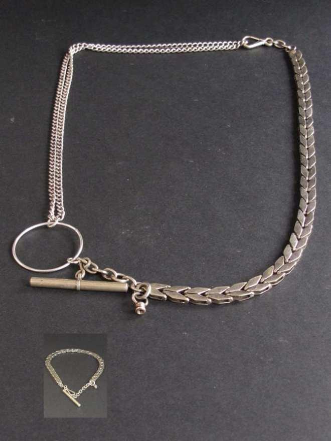 collier avec porte montre gousset