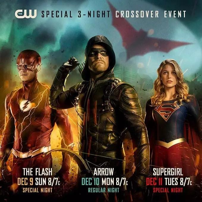 [DC UNIVERSE] - Titãs, Patrulha, Monstro do Pântano, Flash, Pennyworth, etc... - Página 12 Arrowverse-crossover-poster-1129767