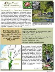 Click here to view the two page Steelhead Preserve campaign brochure.