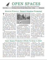 Open Spaces Newsletter – Spring 2001 (PDF)