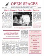 Open Spaces Newsletter – Fall 2000 (PDF)